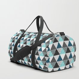 Triangle Quilt in Blue Duffle Bag