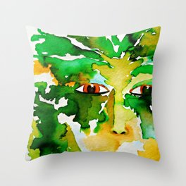 The Eyes of the Goddess of the Wood Throw Pillow