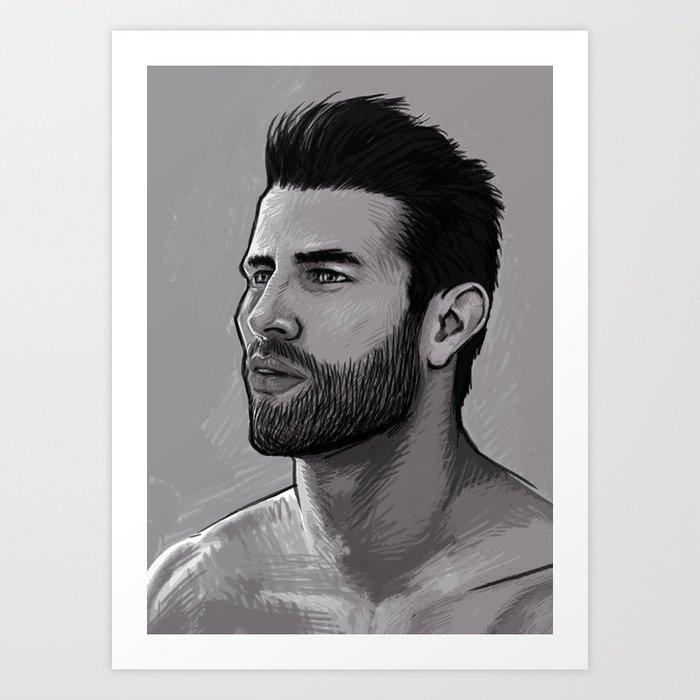Le mec 03 Art Print