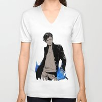 bane V-neck T-shirts featuring Magnus Bane by The Radioactive Peach