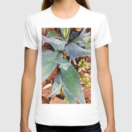 Blue agave and red brick T-shirt