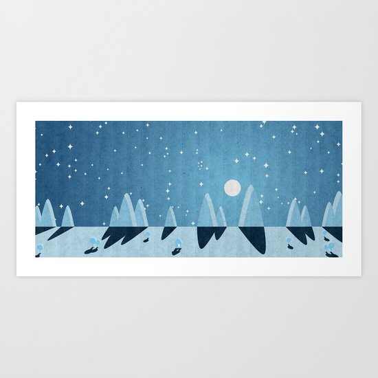LANDSCAPE NIGHT Art Print
