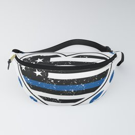 Blue Thin Line Police Wife Mom Life Blessed Policewoman Fanny Pack