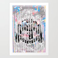 buddah Art Prints featuring Buddah - Butterfly by Kristina Snowflake