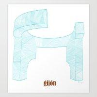 Gijón Art Print