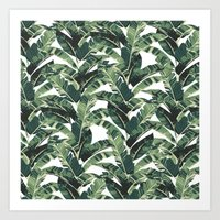 banana leaf Art Prints featuring BANANA LEAF by bows & arrows
