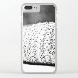 Black and White Seashell Photography, Grey Beach Photo, Sea Urchin Print, Grey Coastal Art Clear iPhone Case