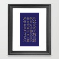 Royal [pattern] Framed Art Print