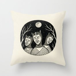 Trio of Narcoleptic Cats Throw Pillow
