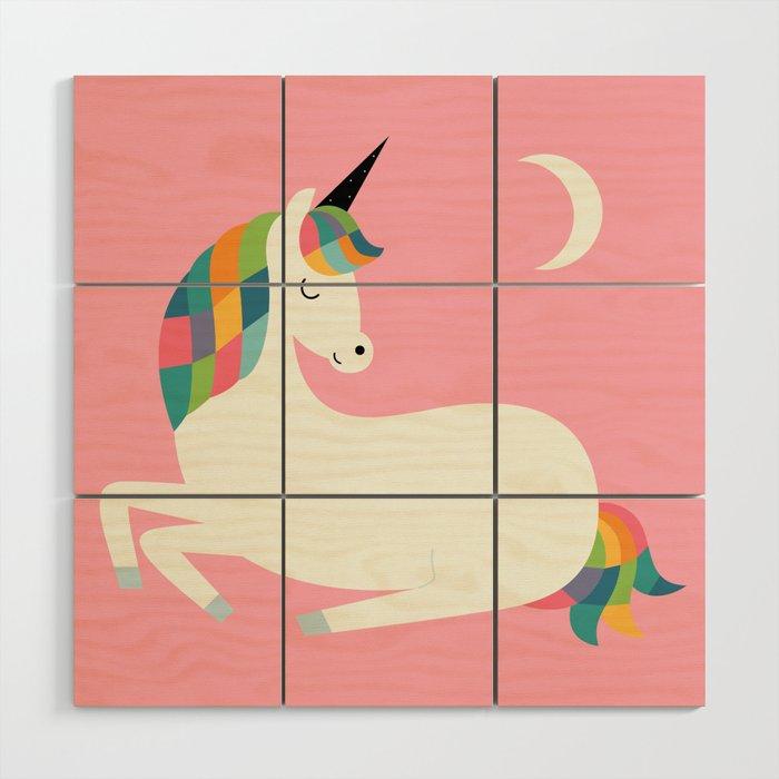 Unicorn Happiness Wood Wall Art