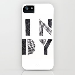Indy Indianapolis Indiana iPhone Case