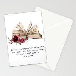 All he will ever be is a beast. Stationery Cards