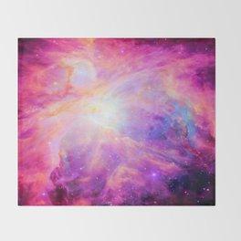 Pink Purple Orion NebulA Throw Blanket