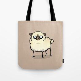 Angry pug - fawn Tote Bag