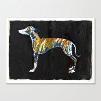 greyhound Canvas Prints featuring Greyhound by Julianna Brion ~ Illustration