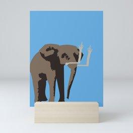 Angry Elephant Mini Art Print