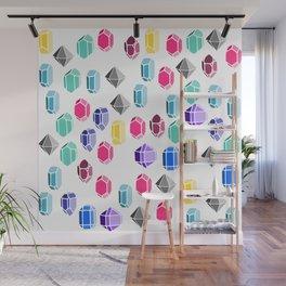 Colorful Gemstones Wall Mural