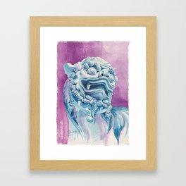 Chinese Aspicious Beast Guardian Lion Framed Art Print