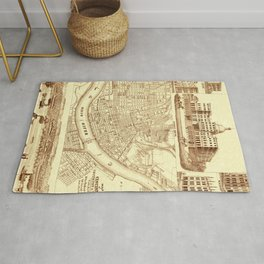 Vintage Cincinnati Map 1850 Rug