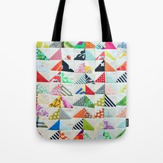 Flying Geese Quilt Pattern Tote Bag
