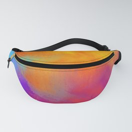 Summer Storm Abstract Painting Fanny Pack