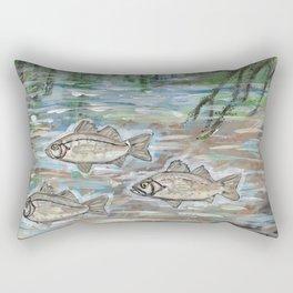 School of White Perch Rectangular Pillow