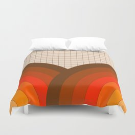 Tan Gridlines Duvet Cover