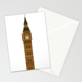 Big Ben Isolated Stationery Cards