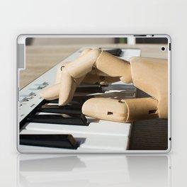 hand of wood and midi keyboard Laptop & iPad Skin
