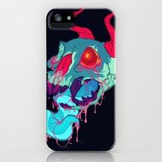 pink skull goop iPhone (5, 5s) Slim Case