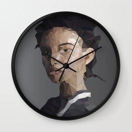 polygon woman Wall Clock