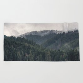 Pacific Northwest Forest - Nature Photography Beach Towel