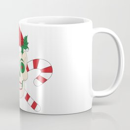 Creepy Christmas Santa Skull Coffee Mug