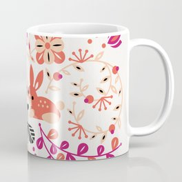 Bunny Lovers – Peach & Black Palette Coffee Mug