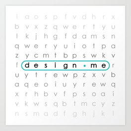 letters in design  Art Print