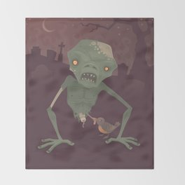 Sickly Zombie Throw Blanket