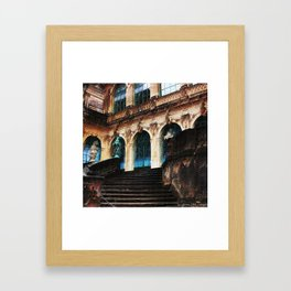 Zwinger Dresden abstract Framed Art Print