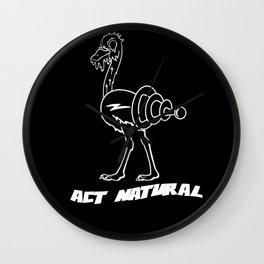 Act Natural Wall Clock