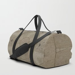 Beige Stone Hexagon Motif Duffle Bag