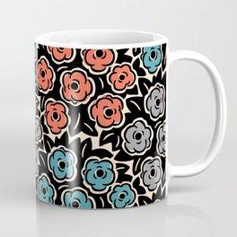 Mid Century Modern Flower Bouquet Pattern 944 Coffee Mug