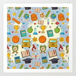 School Cool Art Print