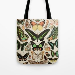 Papillon II Vintage French Butterfly Chart by Adolphe Millot Tote Bag