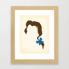 Belle's Hair Framed Art Print