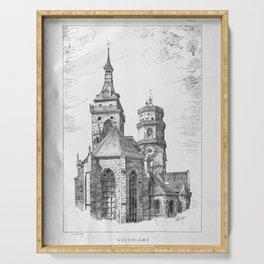Georg Sutter - The Tower Book (1888): 09 Stiftskirche (Collegiate Church), Stuttgart Serving Tray