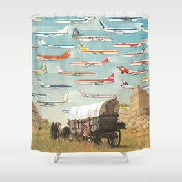 Over There Yonder Shower Curtain