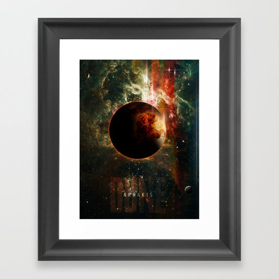 DUNE Planet Arrakis Poster Framed Art Print