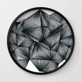 Triangles and lines Wall Clock