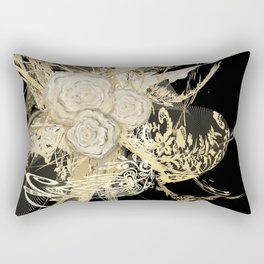 50 Shades of lace Gold Black Rectangular Pillow
