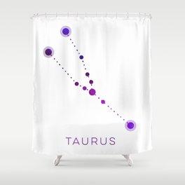 TAURUS STAR CONSTELLATION ZODIAC SIGN Shower Curtain