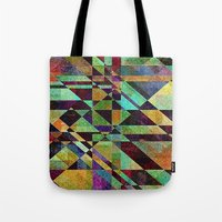 the fault Tote Bags featuring Fault Lines by Klara Acel